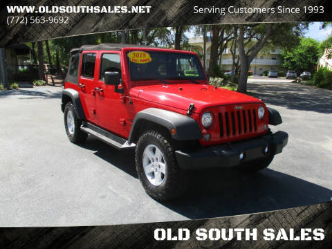 2017 Jeep Wrangler Unlimited for sale at OLD SOUTH SALES in Vero Beach FL