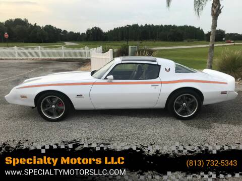 1980 Pontiac Firebird for sale at Specialty Motors LLC in Land O Lakes FL
