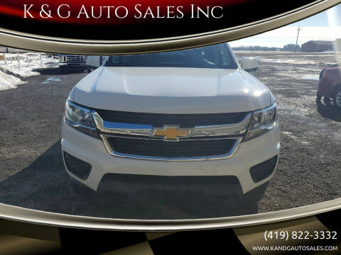 2019 Chevrolet Colorado for sale at K & G Auto Sales Inc in Delta OH