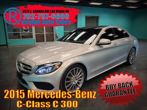 2015 Mercedes-Benz C-Class for sale at Reliable Auto Sales in Las Vegas NV