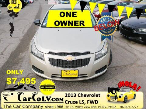 2013 Chevrolet Cruze for sale at The Car Company in Las Vegas NV