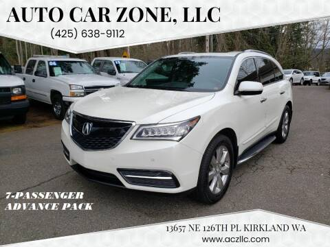 2014 Acura MDX for sale at Auto Car Zone, LLC in Kirkland WA