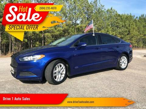 2015 Ford Fusion for sale at Drive 1 Auto Sales in Wake Forest NC