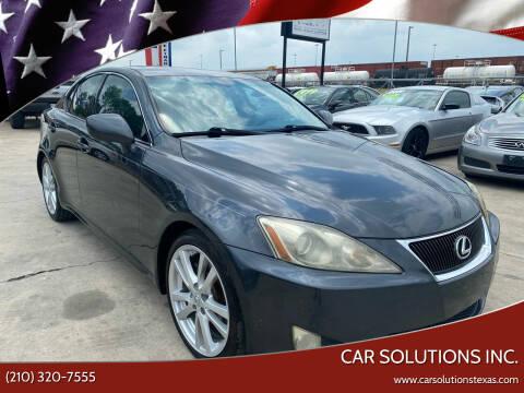2006 Lexus IS 250 for sale at Car Solutions Inc. in San Antonio TX