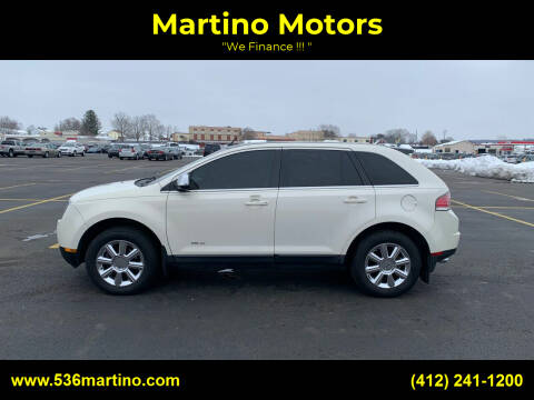 2007 Lincoln MKX for sale at Martino Motors in Pittsburgh PA