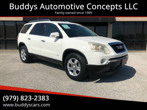 2009 GMC Acadia for sale at Buddys Automotive Concepts LLC in Bryan TX