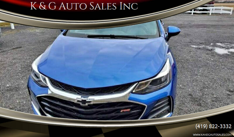 2019 Chevrolet Cruze for sale at K & G Auto Sales Inc in Delta OH