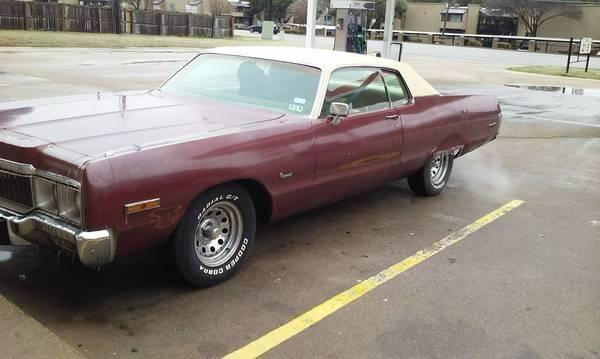 1973 Chrysler Newport for sale in Cadillac, MI
