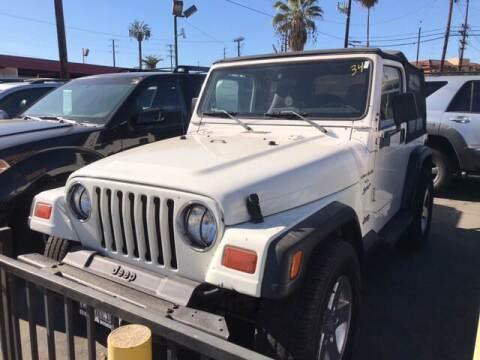 1998 Jeep Wrangler for sale at Affordable Auto Inc. in Pico Rivera CA