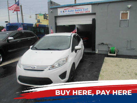 2013 Ford Fiesta for sale at K & V AUTO SALES LLC in Hollywood FL