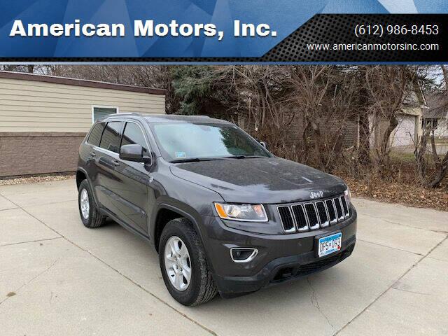 2015 Jeep Grand Cherokee for sale at American Motors, Inc. in Farmington MN