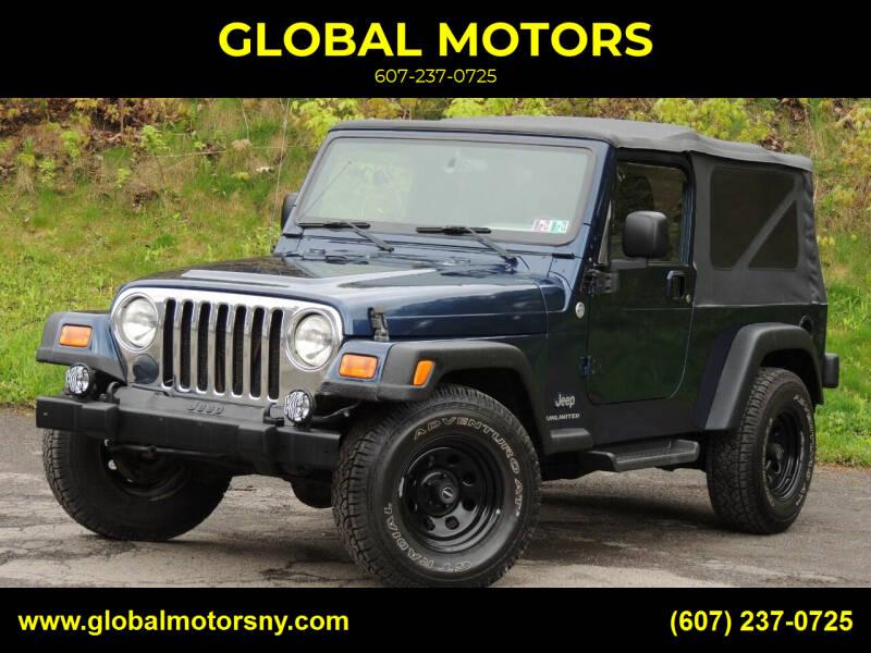 2005 Jeep Wrangler for sale at GLOBAL MOTORS in Binghamton NY