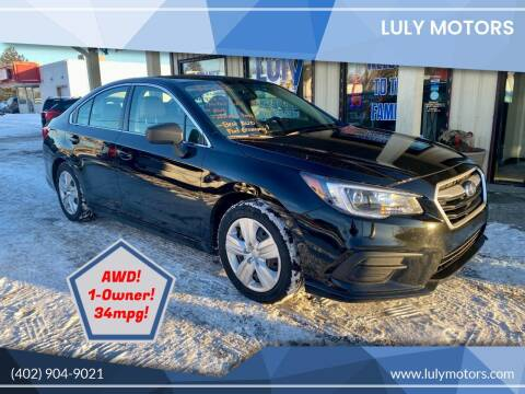 2018 Subaru Legacy for sale at Luly Motors in Lincoln NE