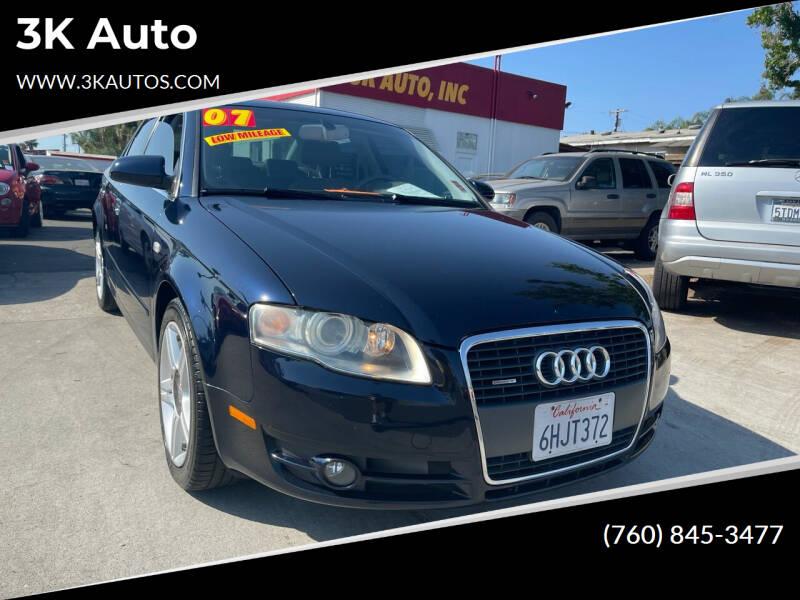 2007 Audi A4 for sale at 3K Auto in Escondido CA