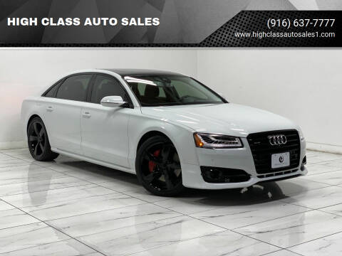 2018 Audi A8 L for sale at HIGH CLASS AUTO SALES in Rancho Cordova CA