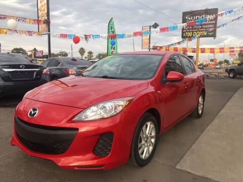 2013 Mazda MAZDA3 for sale at Sunday Car Company LLC in Phoenix AZ