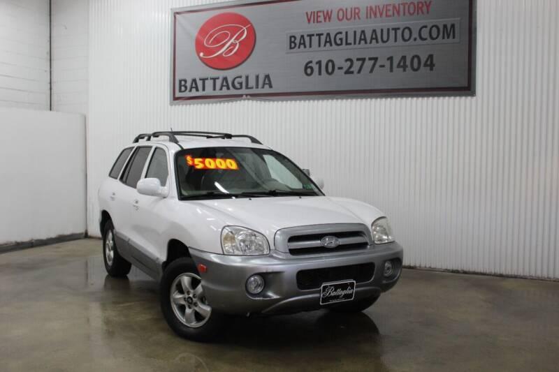 2005 Hyundai Santa Fe for sale at Battaglia Auto Sales in Plymouth Meeting PA