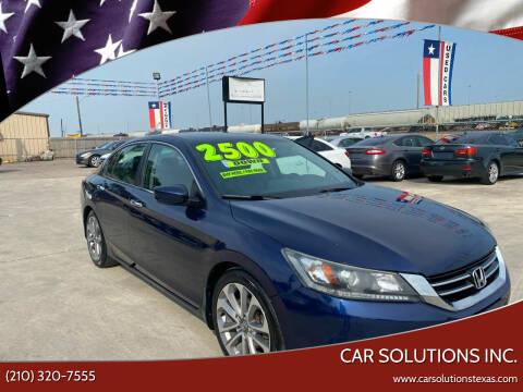 2013 Honda Accord for sale at Car Solutions Inc. in San Antonio TX