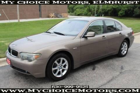2004 BMW 7 Series for sale at My Choice Motors Elmhurst in Elmhurst IL