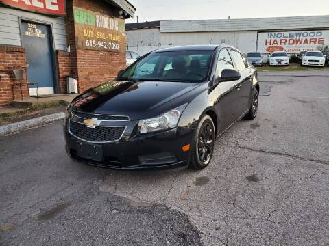 2012 Chevrolet Cruze for sale at Green Ride Inc in Nashville TN