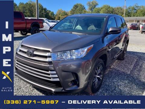 2018 Toyota Highlander for sale at Impex Auto Sales in Greensboro NC