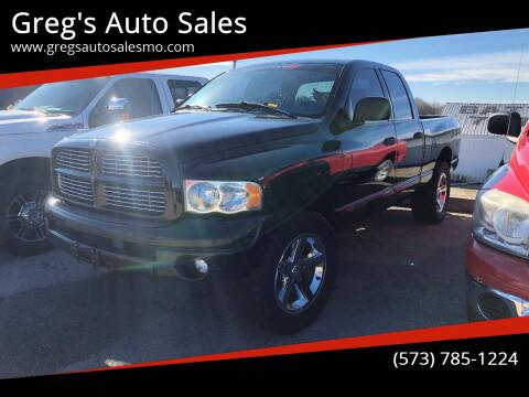 2005 Dodge Ram Pickup 1500 for sale at Greg's Auto Sales in Poplar Bluff MO