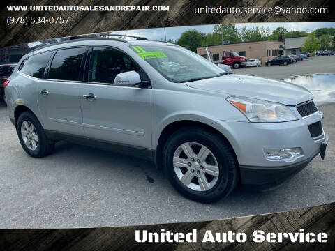 2011 Chevrolet Traverse for sale at United Auto Service in Leominster MA