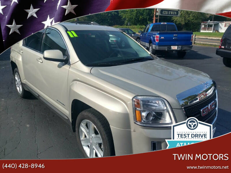 2011 GMC Terrain for sale at TWIN MOTORS in Madison OH