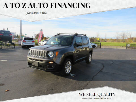 2016 Jeep Renegade for sale at A to Z Auto Financing in Waterford MI