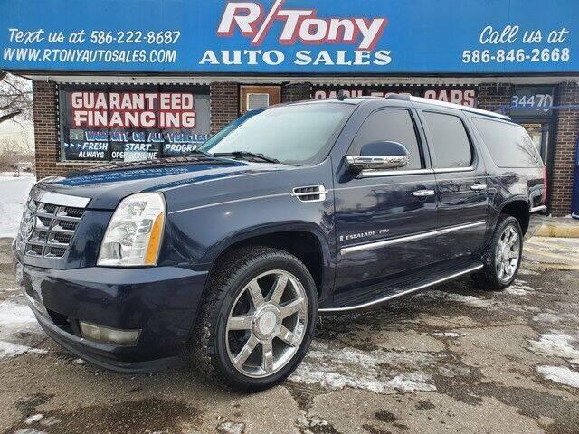 2008 Cadillac Escalade ESV for sale at R Tony Auto Sales in Clinton Township MI