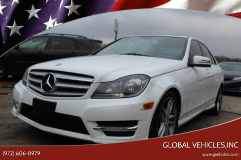 2013 Mercedes-Benz C-Class for sale at Global Vehicles,Inc in Irving TX
