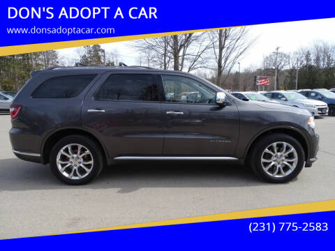 2016 Dodge Durango for sale at DON'S ADOPT A CAR in Cadillac MI