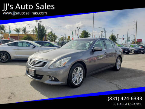 2010 Infiniti G37 Sedan for sale at JJ's Auto Sales in Salinas CA