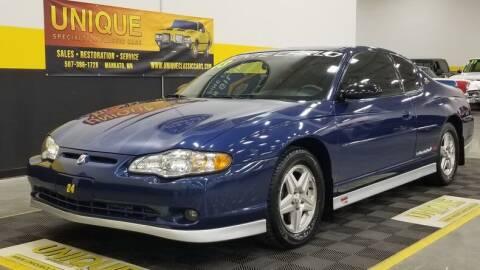 2003 Chevrolet Monte Carlo for sale at UNIQUE SPECIALTY & CLASSICS in Mankato MN