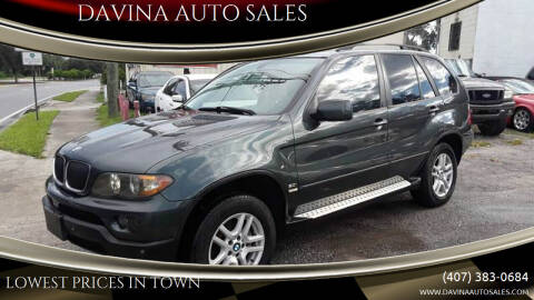 2005 BMW X5 for sale at DAVINA AUTO SALES in Orlando FL
