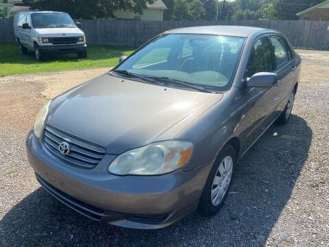 2004 Toyota Corolla for sale at Sartins Auto Sales in Dyersburg TN