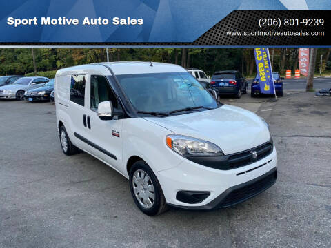 2017 RAM ProMaster City Cargo for sale at Sport Motive Auto Sales in Seattle WA