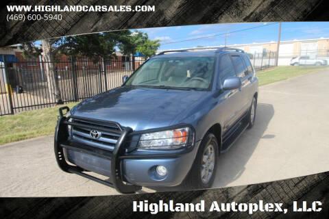 2007 Toyota Highlander for sale at Highland Autoplex, LLC in Dallas TX