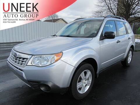 2012 Subaru Forester for sale at Uneek Auto Group LLC in Burton MI