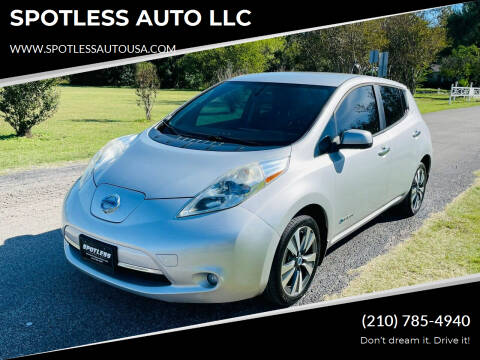 2013 Nissan LEAF for sale at SPOTLESS AUTO LLC in San Antonio TX