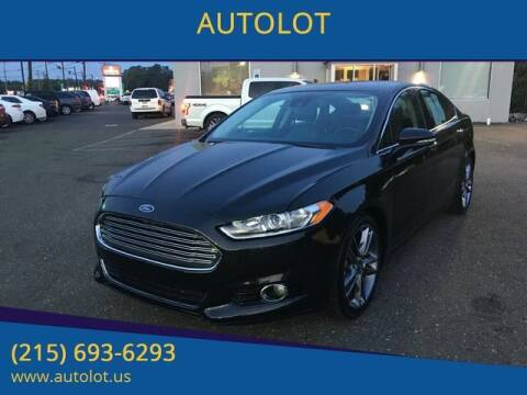 2013 Ford Fusion for sale at AUTOLOT in Bristol PA