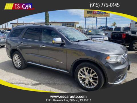 2015 Dodge Durango for sale at Escar Auto - 9809 Montana Ave Lot in El Paso TX