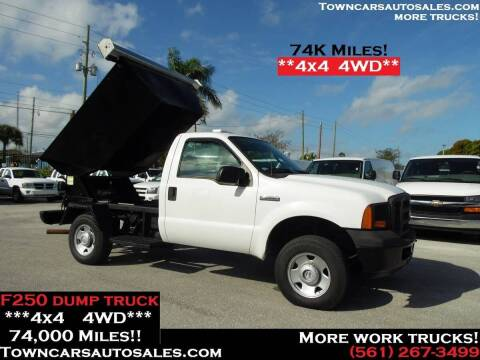 2005 Ford F-250 for sale at Town Cars Auto Sales in West Palm Beach FL