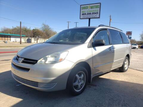 2005 Toyota Sienna for sale at Shock Motors in Garland TX