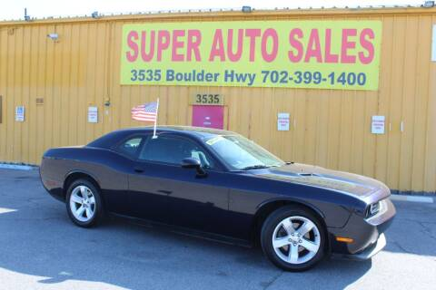 2011 Dodge Challenger for sale at Super Auto Sales in Las Vegas NV