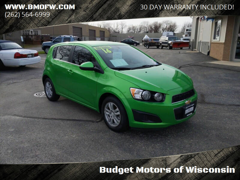 2016 Chevrolet Sonic for sale at Budget Motors of Wisconsin in Racine WI