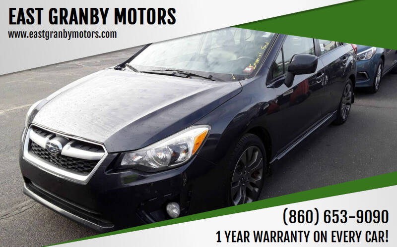 2013 Subaru Impreza for sale at EAST GRANBY MOTORS in East Granby CT