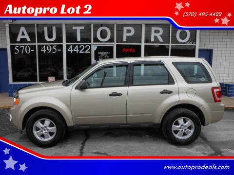 2010 Ford Escape for sale at Autopro Lot 2 in Sunbury PA
