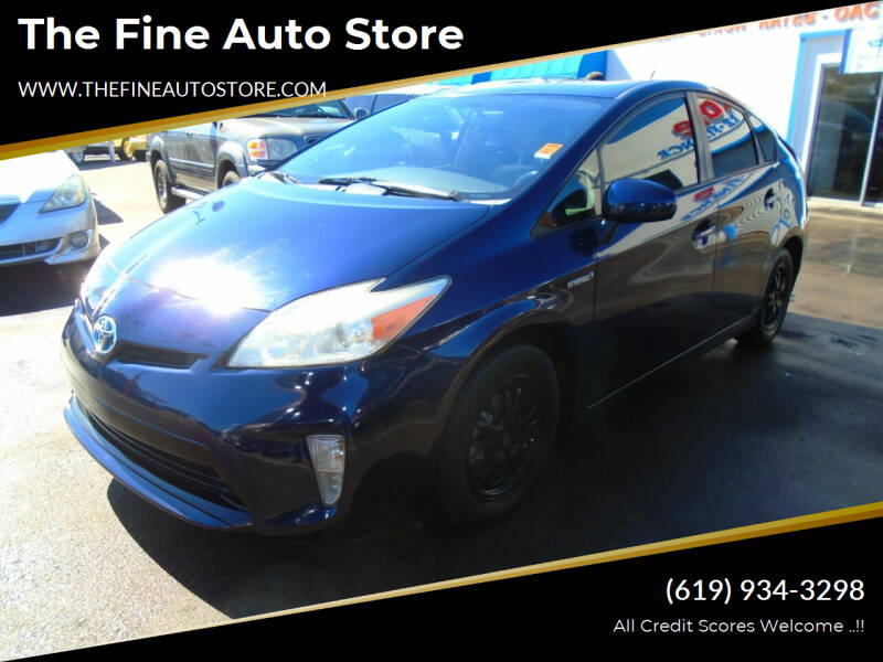 2013 Toyota Prius for sale at The Fine Auto Store in Imperial Beach CA