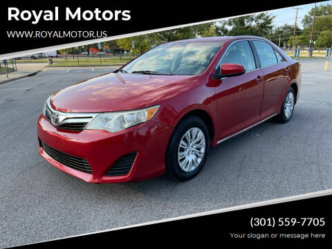 2012 Toyota Camry for sale at Royal Motors in Hyattsville MD